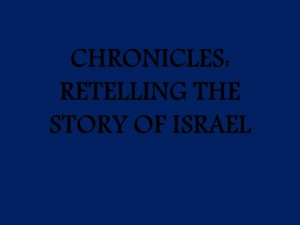 CHRONICLES TITLE