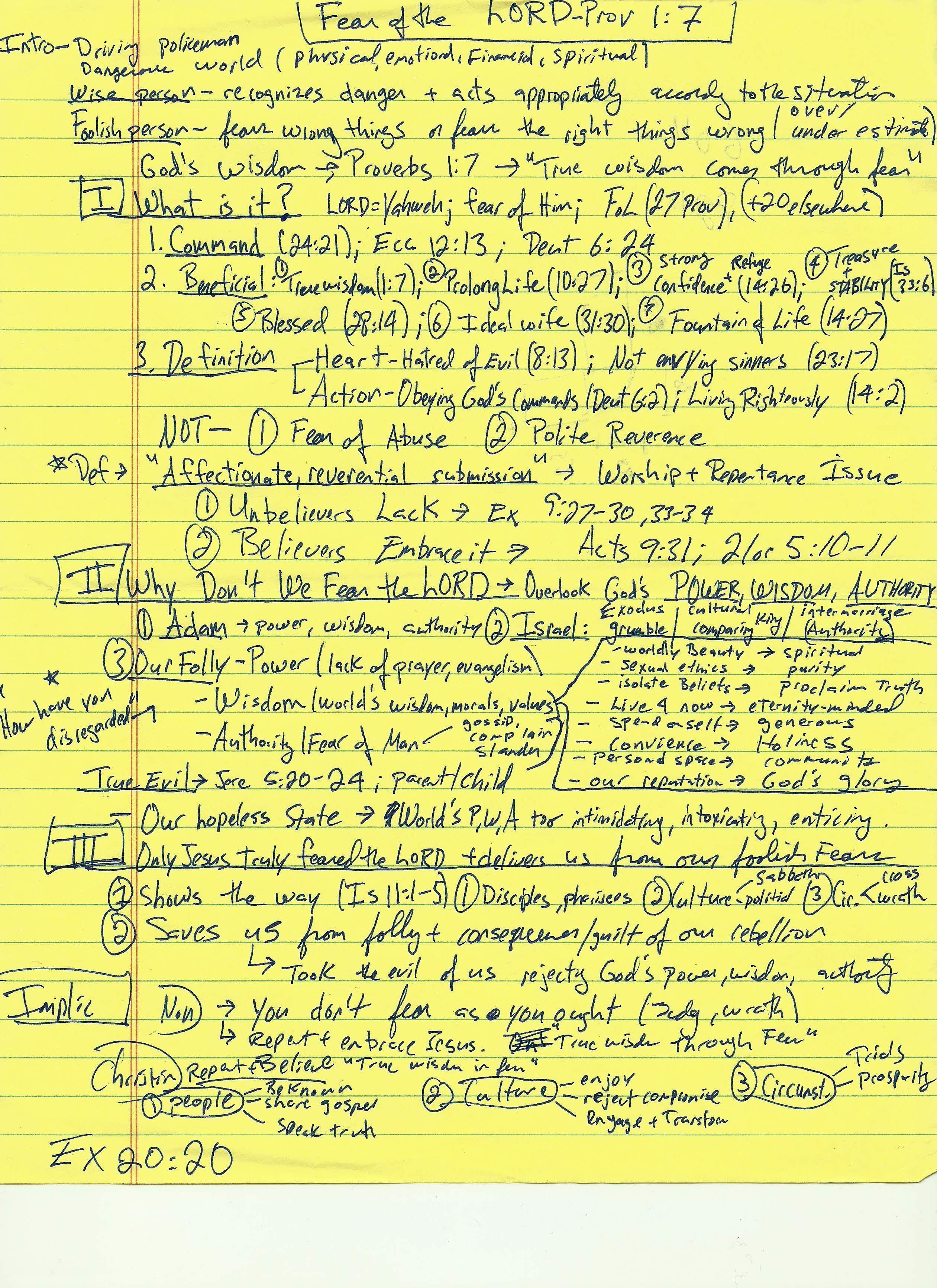 Fear of the LORD jpeg Sermon manuscript