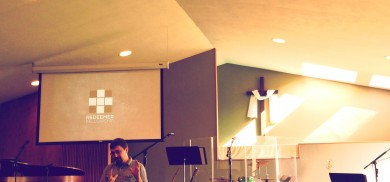 Tom Schmidt preaching